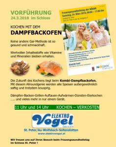 Dampfbackofen Vorführung 24 3 2018 – Elektro Vogel